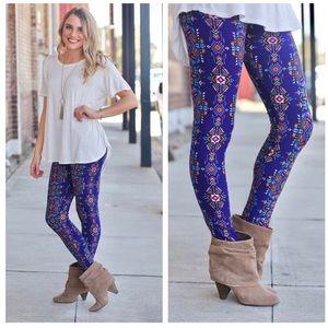 Pants - Aztec Print Leggings